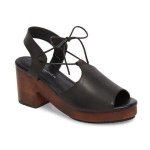Kelsi Dagger Miriam Wooden Heel Platform Sandals
